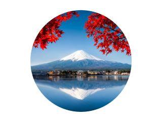 Mount Fuji in Japan in de herfst