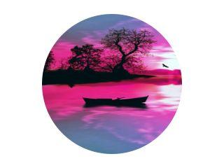 illustratie van prachtig kleurrijk zonsonderganglandschap