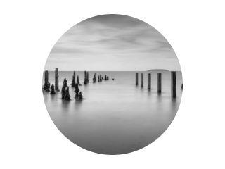 Pilmore Groynes in zwart-wit 31-07-2017