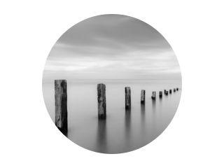 Pilmore Groynes in zwart-wit 27-06-2017