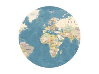 Wereldkaart Vector. Gedetailleerde illustratie van wereldkaart