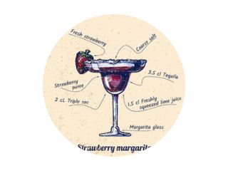 cocktail Aardbeien margarita