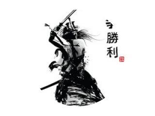 Japanse samoerai met zwaard