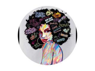 portret van een afro-amerikaans vrouwengezicht