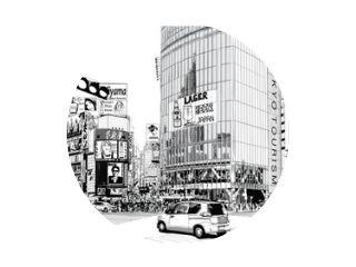 TOKYO, het beroemde kruispunt van Shibuya