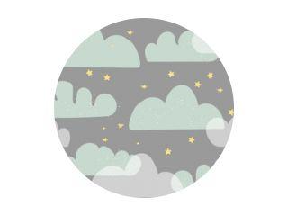 Vector naadloos patroon met cartoonwolken
