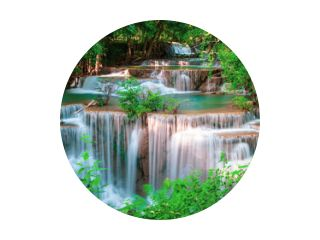 Huai Mae Kamin waterval Srinakarin in Kanchanaburi, in Thailand.Onsen sfeer.