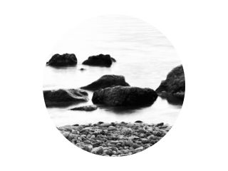 Lange blootstelling water close-up in zee