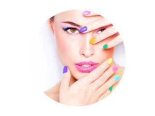 kleurrijke make-up