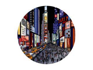 New York - nachtzicht op Times Square