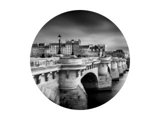 Pont Neuf in Parijs in Z/W ...