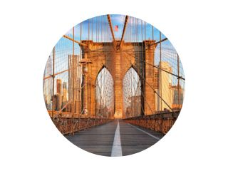 Brooklyn Bridge, New York City, niemand