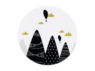 Kinderen grafische illustratie. Gebruiken voor afdrukken op de muur, kussen, decoratie kinderinterieur, babykleding en shirts, wenskaart, vector en andere