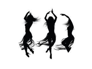 groep meisjes dansen en springen