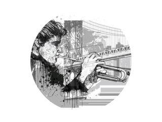 Trompettist in New York (Brooklyn)