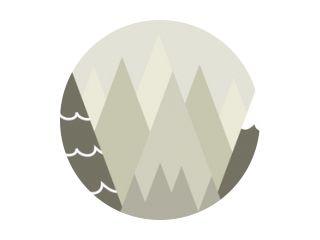Grafische illustratie voor kinderkamerbehang met bergachtergrond. Kan worden gebruikt voor afdrukken op de muur, kussens, decoratie kinderinterieur, babykleding, textiel en kaart
