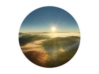 Karpaten zonnig berglandschap