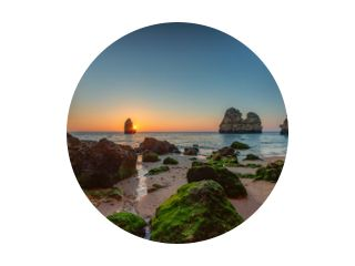 Kustdromen bij zonsopgang - Algarve, Portugal