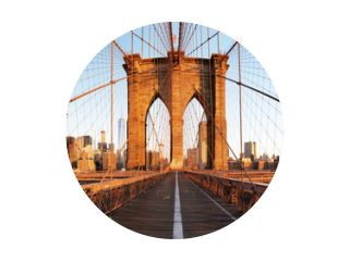 New York City met Brooklyn Bridge, Lower Manhattan, USA