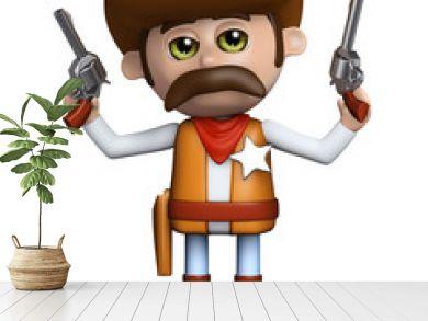 3d Sheriff shoots both guns in the air