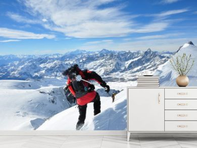 sci alpinismo Breithorn occidentale