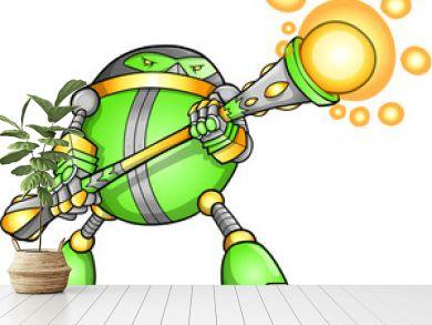 Warrior Soldier Robot Alien Cyborg Vector