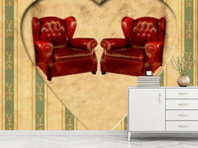 Vintage Heart - Ledersessel