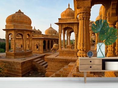 Royal cenotaphs  in Jaisalmer, Rajasthan, India