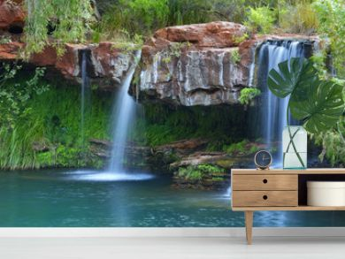 Waterfalls at Fern Pool in Karijini National Park, Australia