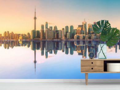 Toronto Skyline Mirror Panorama