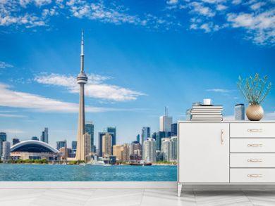 Skyline of Toronto in Canada