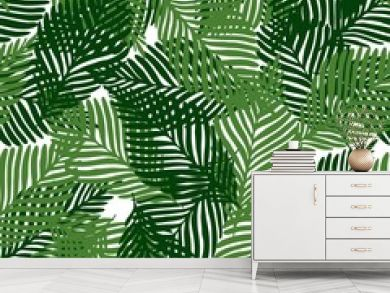 Cute floral seamless pattern tropical leaves, Fashion, interior, wrapping consept.