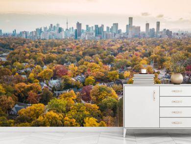Autumn aerial photography of Toronto