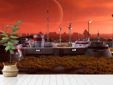 base in another planet panoramic view