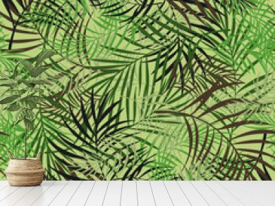 Leaves pattern design camouflage style colored seamless pattern