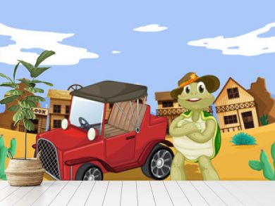 tortoise and car