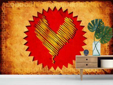 Retroplakat - Goldenes Herz