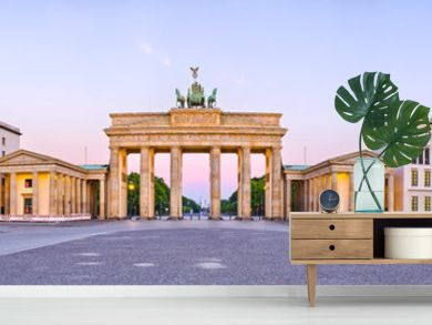Brandenburg Gate in panoramic view, Berlin, Germany
