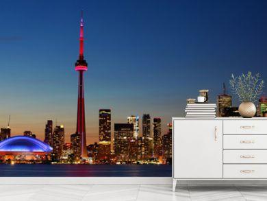 Downtown Toronto, Canada city center at sunset