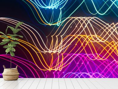 banner multicolored fractal blurred background