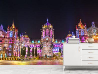 Chhatrapati Shivaji Maharaj Terminus, a UNESCO world heritage site in Mumbai, India