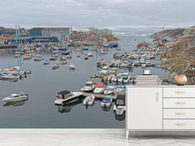 The Harbor of a Remote Greenland Fishing Village