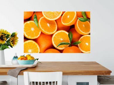 slices of citrus fruits - oranges
