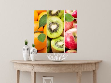 collage of various fresh fruits